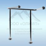 Поручень стена-пол для монтажа по раковину, 650*500 мм,d25мм, AISI 304