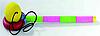 Поймай мяч кольцом, ручка 25см, мяч d =3,5см