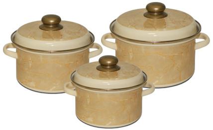 Набор эмалированных кастрюль Премиум