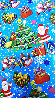"Новогодняя бумага для упаковки подарков ""Дед мороз"", фото 1"