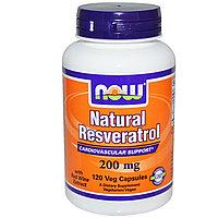 Now Foods, Натуральный ресвератрол, Мега сила, Антиоксидант 200 мг, 120 капсул