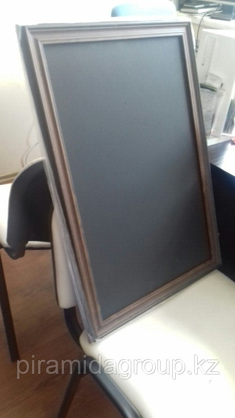 Изготовление меловой доски в рамке по индивидуальному заказу