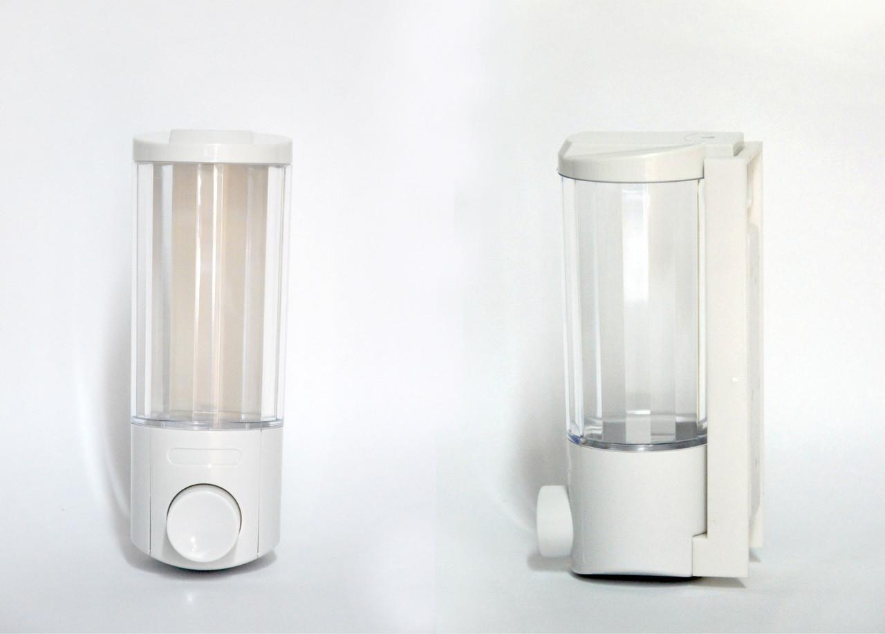Дозатор пластиковый прозрачный для жидкого мыла 400мл
