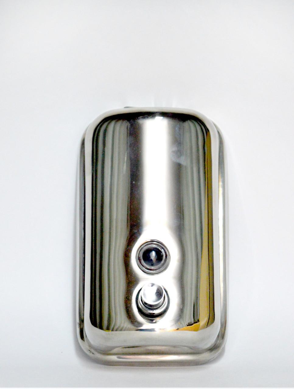 Дозатор для жидкого металлический хром 500 мл.