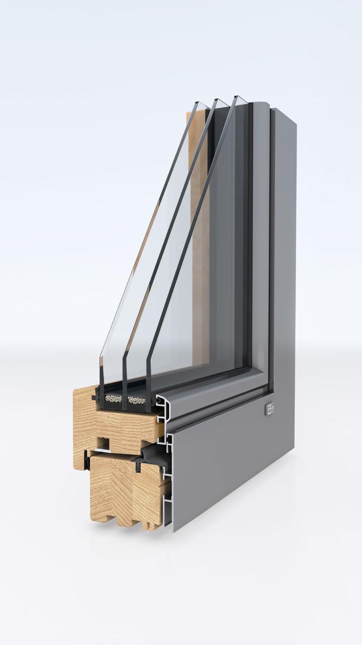 Деревянные окна-Unilux LIVINGLINE 0.8