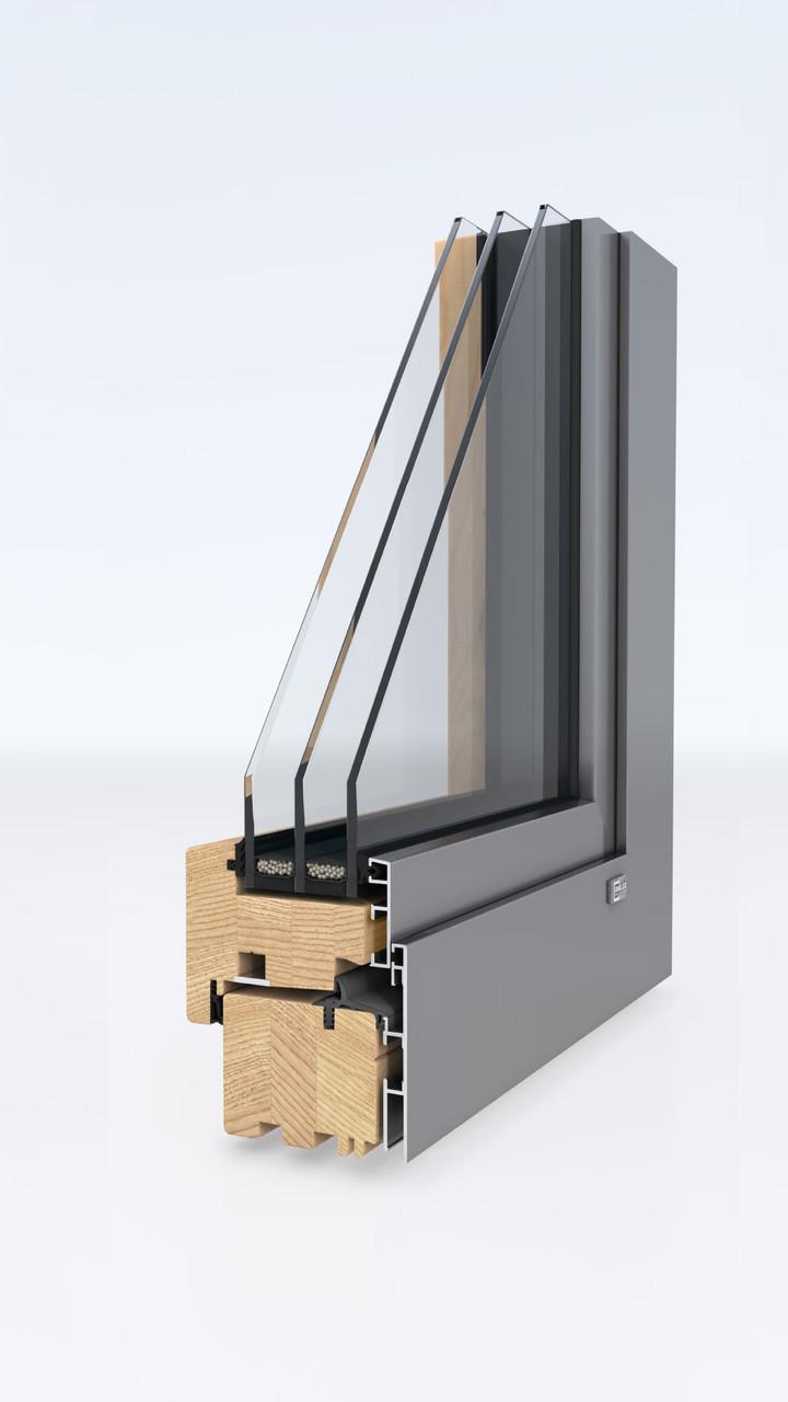Деревянные окна-Unilux MODERNLINE 0.8 - фото 1