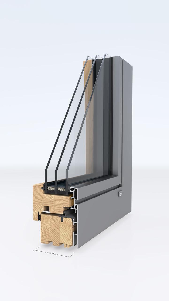 Деревянные окна-Unilux DESIGNLINE 0.8 - фото 1