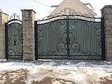 Металлические кованые ворота, фото 3