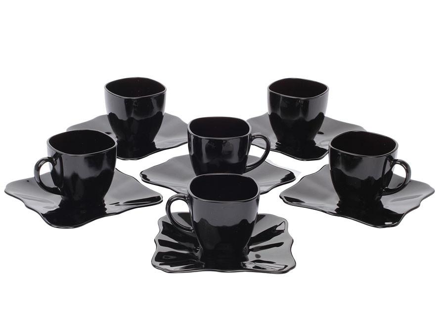Сервиз чайный Luminarc Authentic Black на 6 персон 12 единиц (E4958)
