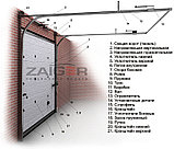 Гаражные ворота Zaiger 2500 х 2200, фото 2