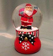 """Новогодний шар со снегом """"Дед мороз с подарками"""" 6,5*4см., фото 1"""