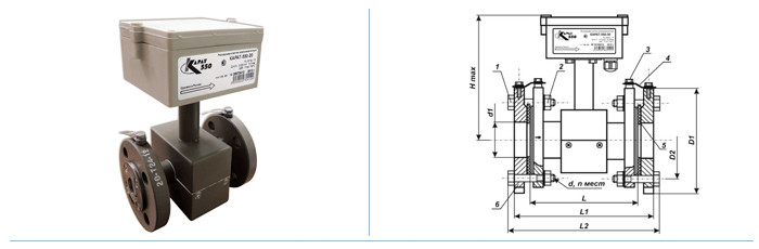 Расходомеры-счетчики тепла КАРАТ-550, Ду 40