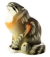 Фарфоровая статуэтка Дикий кот. Ручная роспись, ИФЗ