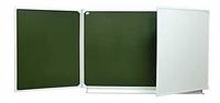 Школьная доска настенная трехэлементная для письма мелом и маркером 2032х750мм