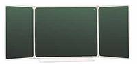 Школьная доска настенная трехэлементная для письма мелом 3032х1012мм разлинованная