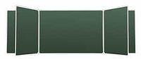 Школьная доска настенная пятиэлементная для письма мелом 3432х1012мм