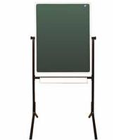 Школьная доска напольная поворотная для письма мелом и маркером 750х1012мм