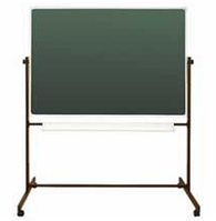 Школьная доска напольная поворотная для письма мелом и маркером 1512х1012мм