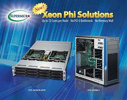 Supermicro® начинает массовую поставку серверных решении основанных на последних процессорах Intel® Xeon Phi™ и Intel® Omni-Path Fabric