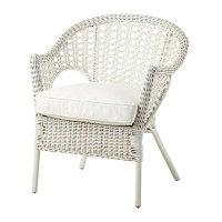 Кресло с подушкой-сиденьем ФИННТОРП / ЮПВИК белый ИКЕА, IKEA , фото 1