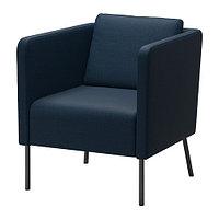 Кресло ЭКЕРЁ Шифтебу темно-синий ИКЕА, IKEA