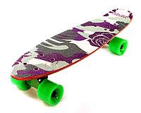 """Скейтборд классика """"Цветочный камуфляж"""" (Пенни борд ) 22,5"""" (деревянная дека / зеленые колеса /, фото 1"""