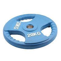 Олимпийский диск евро-классик с тройным хватом 20 кг.