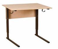 Стол ученический одноместный. Регулируемый по высоте (р.гр. №1-4)