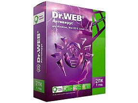 Антивирус Dr. Web, 12 мес., 2 ПК, +1 месяц, BOX
