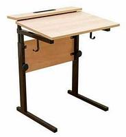Стол ученический одноместный, регулируемый по высоте (р.гр. №3-6) и наклону столешницы от 0 до 15 градусов