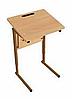 Стол ученический одноместный, регулируемый по высоте (р.гр. №2-4) и наклону столешницы от 0 до 24 градусов
