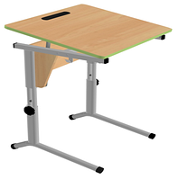 Стол ученический одноместный, регулируемый по высоте и наклону столешницы (0-24°) (р.гр.№3-5)
