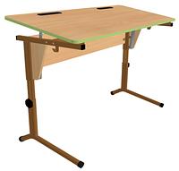 Стол регул-й по высоте и наклону (0-24°) с выемками под ручки, углы столешницы закруглены (р.гр.№5-7)