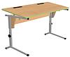Стол ученический 2хместный, регул-й по высоте и наклону (0-24°) выемки под ручки, углы закруглены (р.гр.№3-5)