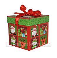 Подарочная новогодняя упаковка 10*10 см (маленькая) YXL 5006-1