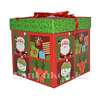 Подарочная новогодняя упаковка 15*15 см (средняя) YXL 5005-1A