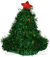 """Карнавальная шапка """"Новогодняя елка"""" (зеленая)"""