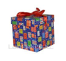 Подарочная новогодняя упаковка 10*10 см (маленькая) YXL 5008S-2