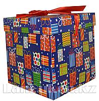 Подарочная новогодняя упаковка 22*21 см (большая) YXL 5008L-2