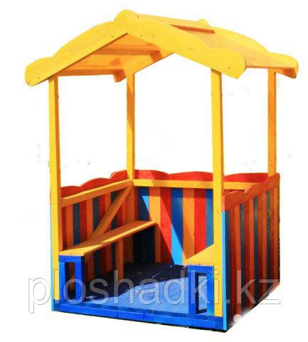 Домик детский, открытый, со скамейками
