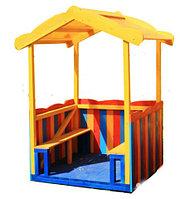 Домик детский, открытый, со скамейками, фото 1