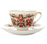 Чашка с блюдцем Красный петух. Ручная роспись. Авторская работа, фото 2
