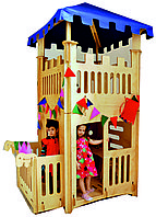 Детский домик с крышей, деревянный