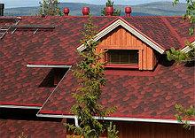 Гибкая битумная черепица RoofShield (красный)