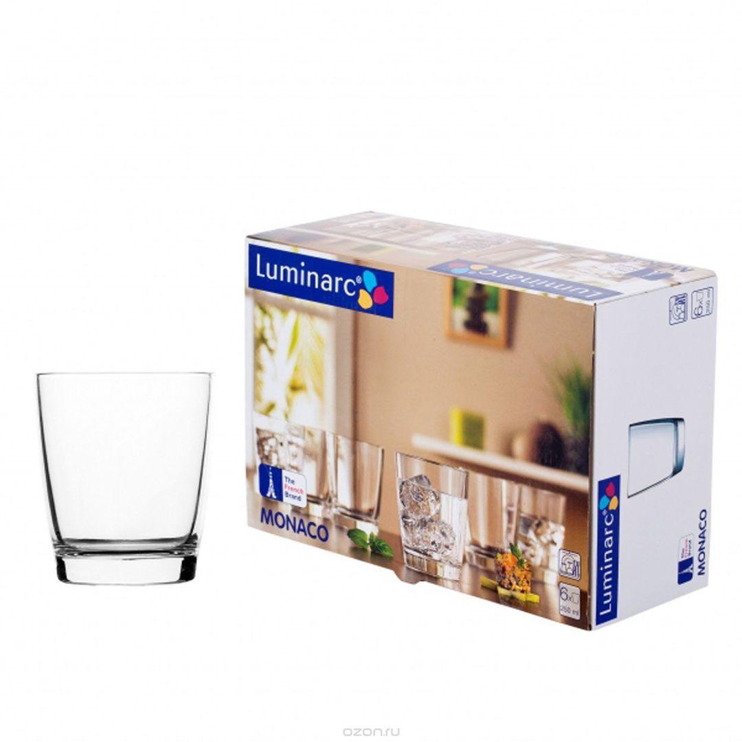 Набор  низких стаканов Luminarc Монако 250 мл 6 шт (H5124/6)