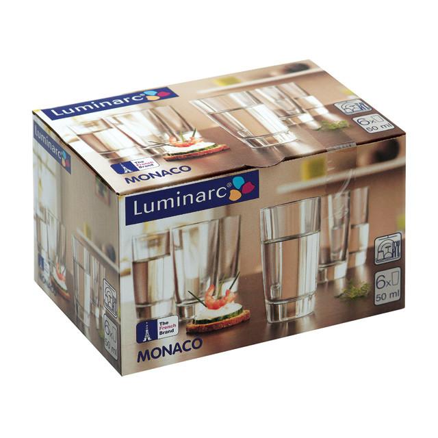 Набор Luminarc Монако из 6 рюмок 50 мл (H5125/6)