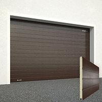 Ворота секционные RSD02, дизайн панели: доска, цвет: коричневый., фото 1