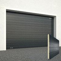 Ворота секционные RSD02, дизайн панели: доска, цвет: антрацит.