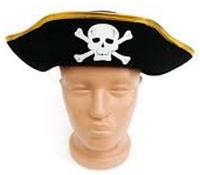 Шляпа Пирата с золотистой тесьмой (детская)