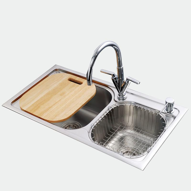 Кухонная мойка из нержавеющей стали EAGO SC7842D